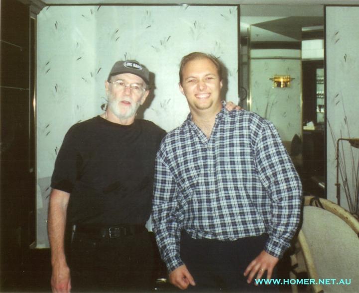 George Carlin and Glenn Twiddle